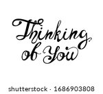 thinking of you. vector hand... | Shutterstock .eps vector #1686903808
