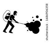 black silhouette disinfection.... | Shutterstock .eps vector #1686906358