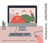 coronavirus pandemic.novel... | Shutterstock .eps vector #1686906508