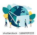 coronavirus outbreak.... | Shutterstock .eps vector #1686909235