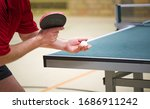 Table Tennis Player Doing A...