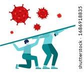 coronavirus 2019 flash nc0v ... | Shutterstock .eps vector #1686918835