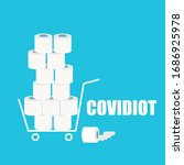 Covidiot Vector Concept...
