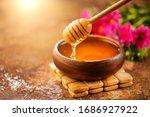 Honey Dripping From Honey...