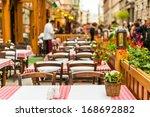 street restaurant in budapest ... | Shutterstock . vector #168692882