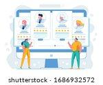 clients evaluating doctors... | Shutterstock .eps vector #1686932572