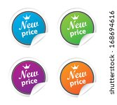 new price labels and sticker... | Shutterstock . vector #168694616