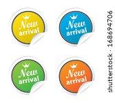 new arrival labels. jpg format. | Shutterstock . vector #168694706
