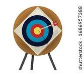 target vector icon.cartoon... | Shutterstock .eps vector #1686957388