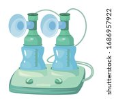 breast pump vector icon.cartoon ... | Shutterstock .eps vector #1686957922