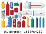 gas cylinder vector cartoon set ... | Shutterstock .eps vector #1686964252