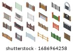Fence Gate Vector Isometric Se...