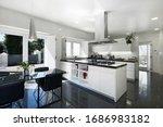 Interior Kitchen Of Modern...