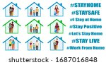 coronavirus protection. stay... | Shutterstock .eps vector #1687016848