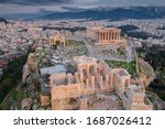 Aerial View Of Acropolis Of...