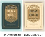 vintage wedding invitation.... | Shutterstock .eps vector #1687028782