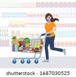 corona virus character vector... | Shutterstock .eps vector #1687030525