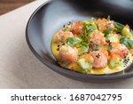Salmon Tartare With Red Caviar  ...