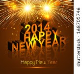 new year 2014 reflection... | Shutterstock .eps vector #168705746