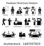 virus pandemic third liner... | Shutterstock .eps vector #1687057825