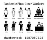 virus pandemic first liner... | Shutterstock .eps vector #1687057828