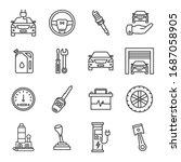 set car service line icons. set ... | Shutterstock .eps vector #1687058905