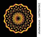 mandala graphic design for art  ... | Shutterstock .eps vector #1687064362
