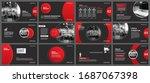 presentation and slide layout... | Shutterstock .eps vector #1687067398