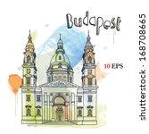 budapest | Shutterstock .eps vector #168708665