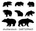 vector bear silhouette  symbol...   Shutterstock .eps vector #1687109665