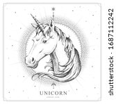 modern magic witchcraft card...   Shutterstock .eps vector #1687112242