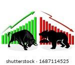 Bull And Bear Symbols Of Stock...