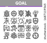 goal target purpose collection... | Shutterstock .eps vector #1687119565