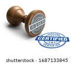 Certified Stamp. Wooden Round...