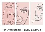 set of creative templates in... | Shutterstock .eps vector #1687133935