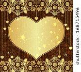 vintage valentine frame with... | Shutterstock .eps vector #168715496