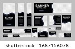 set of creative web banners of... | Shutterstock .eps vector #1687156078