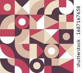 geometric mosaic decorative... | Shutterstock .eps vector #1687167658