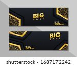 big sale banner with gold...   Shutterstock .eps vector #1687172242