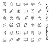 education icon set. collection... | Shutterstock .eps vector #1687176925