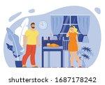 parenthood stress and fatigue ... | Shutterstock .eps vector #1687178242