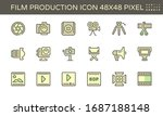 film and film production vector ... | Shutterstock .eps vector #1687188148