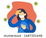 a infected with pandemic...   Shutterstock .eps vector #1687201648