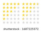 5 star rate icons. five rating... | Shutterstock .eps vector #1687225372