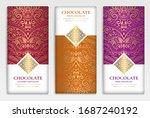 luxury packaging design of... | Shutterstock .eps vector #1687240192
