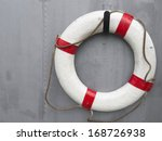 Life Buoy Attached To A Metal...