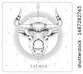 modern magic witchcraft card...   Shutterstock .eps vector #1687282765
