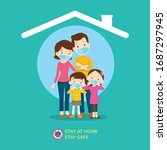stay at home stay safe corona... | Shutterstock .eps vector #1687297945