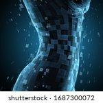 vector photorealistic female...   Shutterstock .eps vector #1687300072