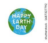 happy earth day vector card.... | Shutterstock .eps vector #1687327792